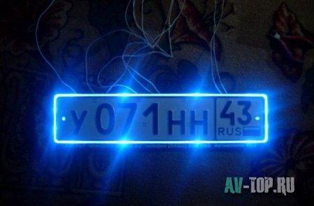 Светодиодная подсветка заднего номера на ВАЗ 2110 своими руками