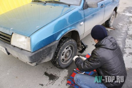 Замена тормозных колодок ВАЗ