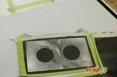 Уникальная карбоновая панель приборов на Ваз 2101
